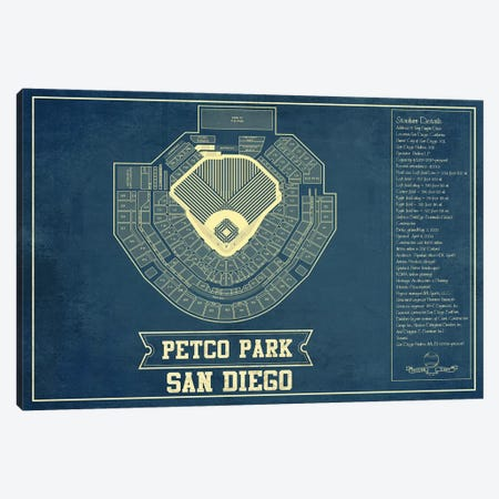 San Diego Petco Park Canvas Print #CWE129} by Cutler West Canvas Wall Art