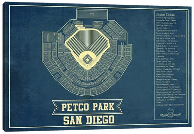 San Diego Petco Park Canvas Art Print