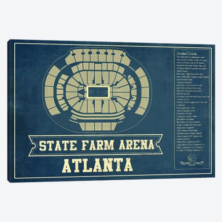Atlanta State Farm Arena Canvas Print #CWE12} by Cutler West Canvas Print