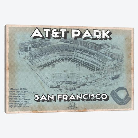San Francisco Giants AT&T Park Canvas Print #CWE130} by Cutler West Canvas Print