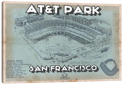 San Francisco Giants AT&T Park Canvas Art Print