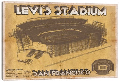 San Francisco Levi's Stadium Canvas Art Print