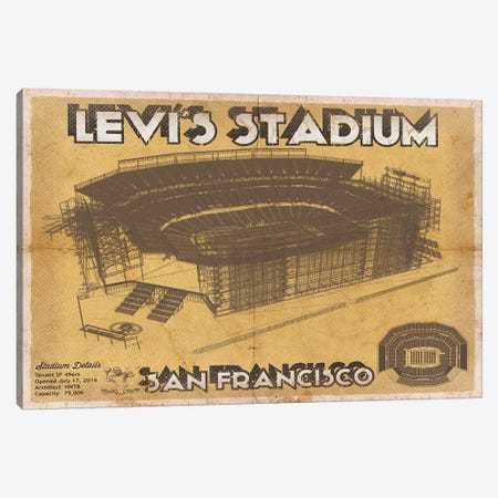 San Francisco Levi's Stadium Canvas Print #CWE131} by Cutler West Art Print
