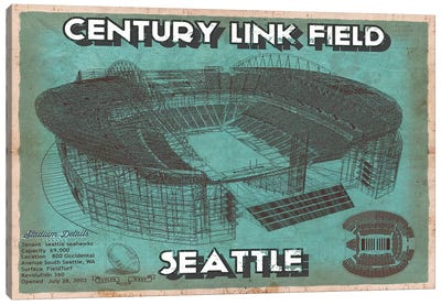 Seattle Century Link Field  Canvas Art Print
