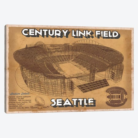 Seattle Century Link Field In Brown Canvas Print #CWE135} by Cutler West Canvas Artwork