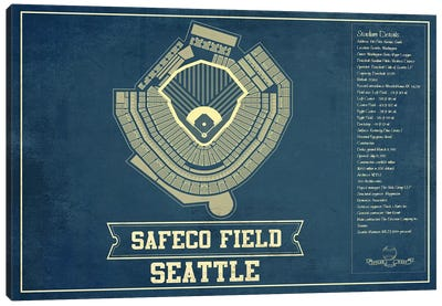 Seattle Safeco Field Canvas Art Print