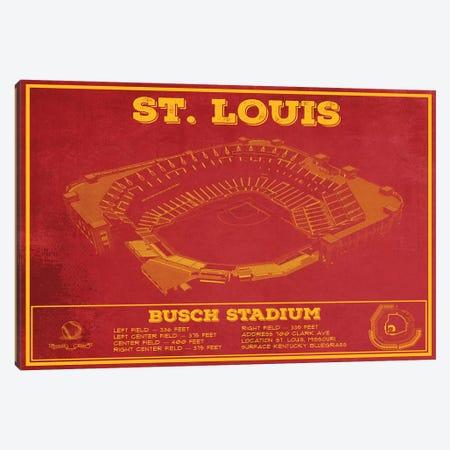 St. Louis Busch Stadium Canvas Print #CWE138} by Cutler West Canvas Print