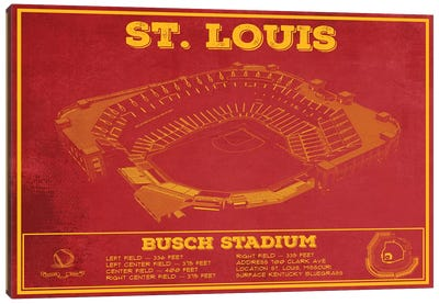 St. Louis Busch Stadium Canvas Art Print
