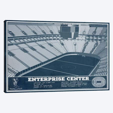 St. Louis Enterprise Center Canvas Print #CWE139} by Cutler West Canvas Print