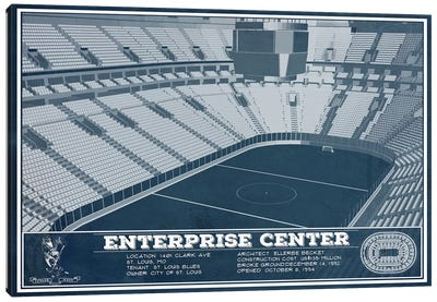 St. Louis Enterprise Center Canvas Art Print