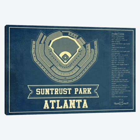Atlanta SunTrust Park Canvas Print #CWE13} by Cutler West Art Print