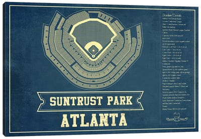 Atlanta SunTrust Park Canvas Art Print