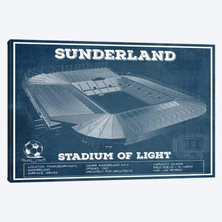 Sunderland Stadium Of Light Canvas Print #CWE140} by Cutler West Canvas Art
