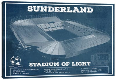 Sunderland Stadium Of Light Canvas Art Print