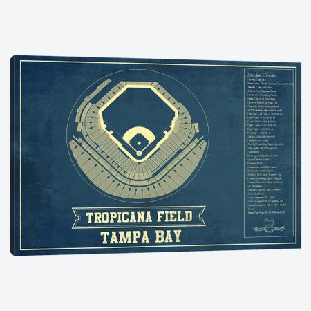 Tampa Bay  Tropicana Field Canvas Print #CWE142} by Cutler West Canvas Artwork