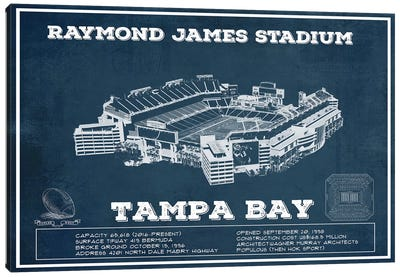 Tampa Bay Raymond James Stadium Canvas Art Print