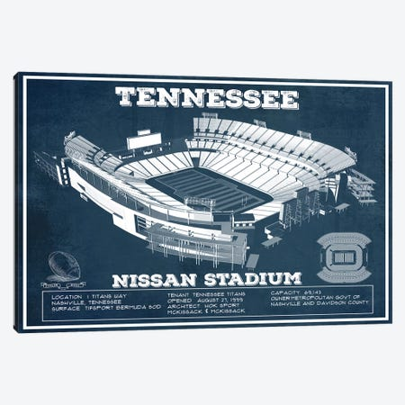 Tennessee Nissan Stadium Canvas Print #CWE145} by Cutler West Art Print