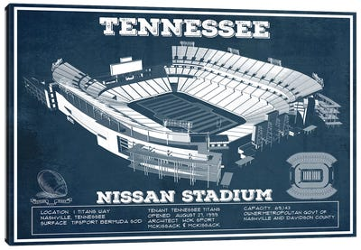 Tennessee Nissan Stadium Canvas Art Print