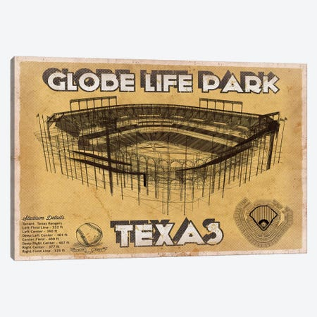 Texas Globe Life Park Canvas Print #CWE146} by Cutler West Canvas Art Print