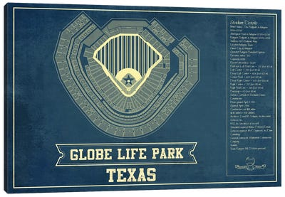 Texas Globe Life Park In Arlington Canvas Art Print