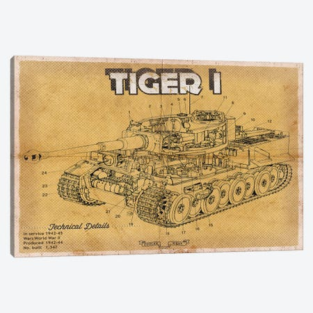 Tiger I Canvas Print #CWE148} by Cutler West Canvas Art