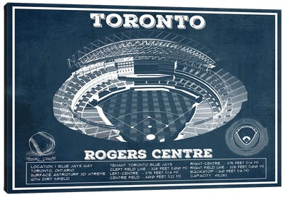 Toronto Rogers Centre Canvas Art Print