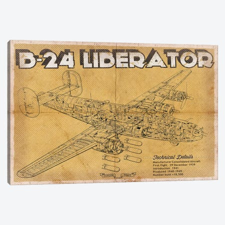 B-24 Liberator 3-Piece Canvas #CWE14} by Cutler West Canvas Artwork