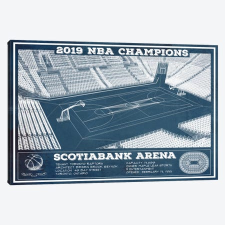 Toronto Scotiabank Arena Canvas Print #CWE150} by Cutler West Art Print