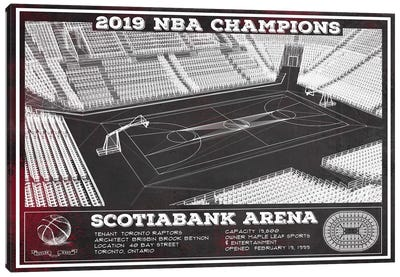 Toronto Scotiabank Arena In Team Colors Canvas Art Print