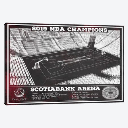 Toronto Scotiabank Arena In Team Colors Canvas Print #CWE151} by Cutler West Canvas Print