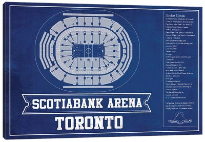 Toronto Scotiabank Arena In  Hockey Team Colors Canvas Art Print