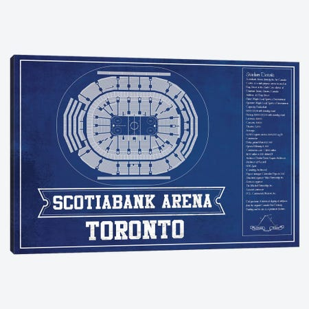 Toronto Scotiabank Arena In  Hockey Team Colors Canvas Print #CWE152} by Cutler West Art Print