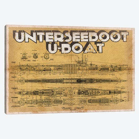 U Boat Canvas Print #CWE153} by Cutler West Canvas Art Print