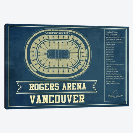 Vancouver Rogers Arena Canvas Print #CWE154} by Cutler West Canvas Wall Art