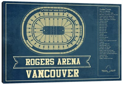 Vancouver Rogers Arena Canvas Art Print