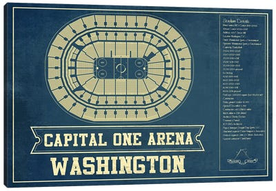 Washington Capital One Arena Canvas Art Print