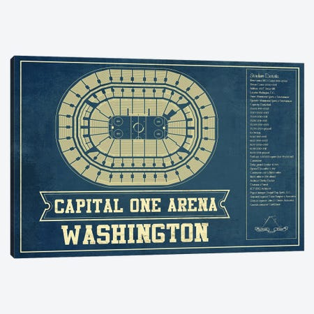 Washington Capital One Arena Canvas Print #CWE157} by Cutler West Canvas Wall Art