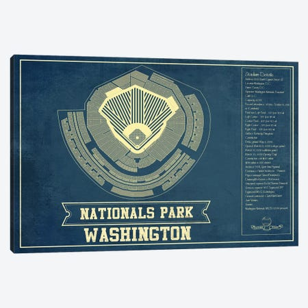 Washington Nationals Park Canvas Print #CWE158} by Cutler West Canvas Print