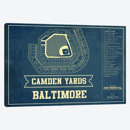 Baltimore Camden Yards I Canvas Print #CWE15} by Cutler West Canvas Art