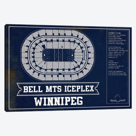 Winnipeg Bell MTS Place In Team Colors Canvas Print #CWE161} by Cutler West Canvas Wall Art