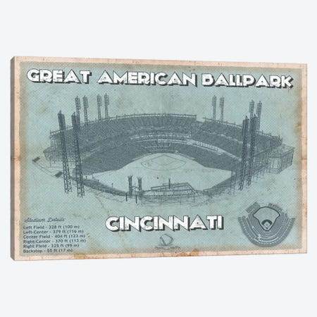 Cincinnati Great American Ballpark Canvas Print #CWE162} by Cutler West Canvas Artwork