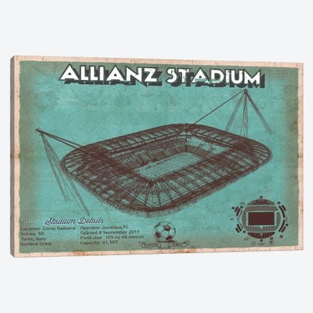 Turin Allianz Stadium Canvas Print #CWE163} by Cutler West Canvas Artwork
