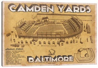 Baltimore Camden Yards II Canvas Art Print