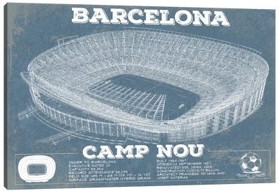 Barcelona Camp Nou Canvas Art Print