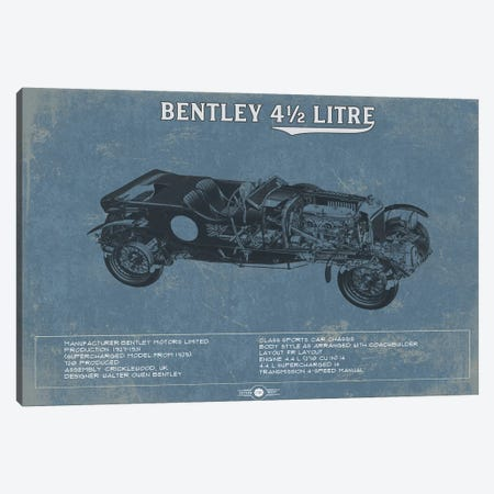 Bentley 4.5 Litre Canvas Print #CWE21} by Cutler West Canvas Wall Art