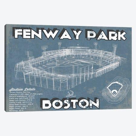 Boston Fenway Park Blueprint Canvas Print #CWE23} by Cutler West Canvas Wall Art