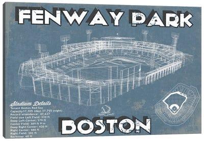 Boston Fenway Park Blueprint Canvas Art Print
