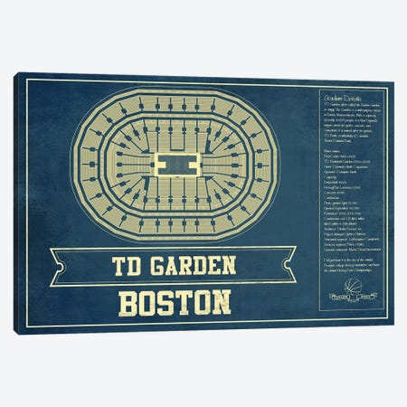 Boston TD Garden Canvas Print #CWE25} by Cutler West Canvas Print