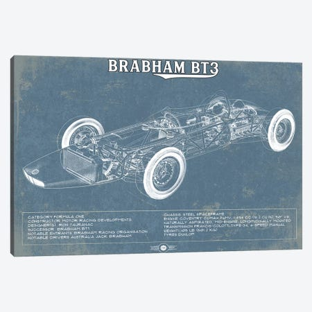 Brabham BT3 Canvas Print #CWE26} by Cutler West Canvas Art Print