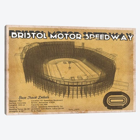 Bristol Motor Speedway Canvas Print #CWE29} by Cutler West Canvas Art
